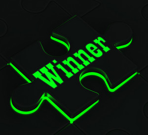 Winner Puzzle Showing Victory And Triumph