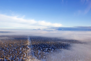Winter Aerial City Background