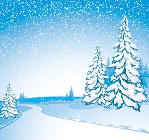 Winter Landscape. Vector.