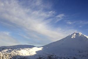 Winter Mountain Snow Background