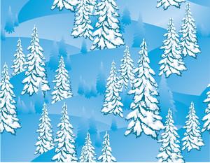 Winter Seamless. Vector.