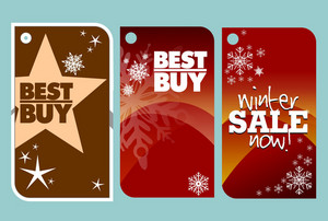 Winter Vector Tags