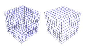 Wireframe Of Two Boxes