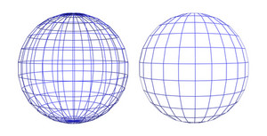 Wireframe Of Two Spheres