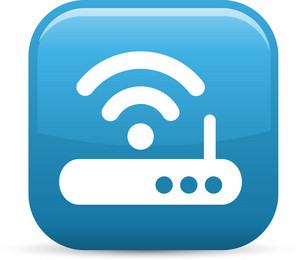 Wireless Internet Wifi Elements Glossy Icon