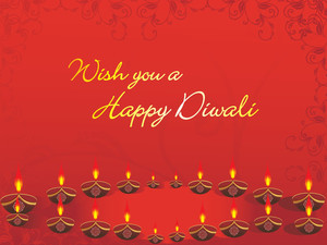 Wish You A Happy Diwali Background