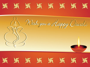Wish You A Happy Diwali Gretting Card