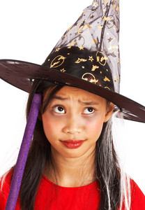 Witch Costume On A Small Girl
