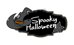 Witch Hat Halloween Banner Vector