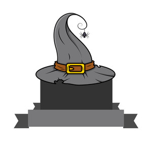 Witch Hat Halloween Banner