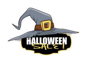 Witch Hat Halloween Sale Banner