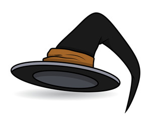 Witch Hat - Halloween Vector Illustration