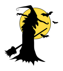 Witch Silhouettes - Halloween Vector Illustration
