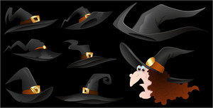 Witches Hats Vectors