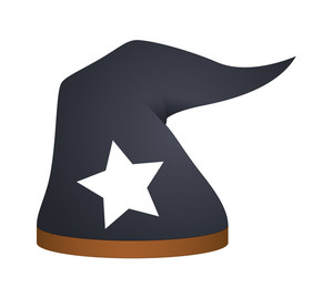 Wizard Magic Hat Vector