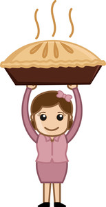 Woman Carrying Pan Cake