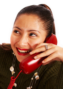 Woman Chatting On The Phone