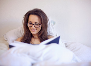 Woman Enjoying a Good Book