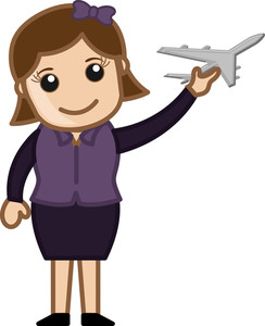 Woman Holding A Toy Plane - Travel Concept