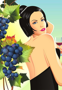 Woman In Winery