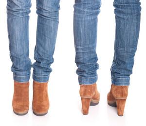 Woman Legs In Jeans