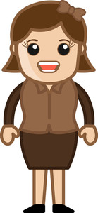 Woman Talking - Business Cartoon Character Vector