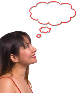 Woman Thinking Of Ideas And Dreams