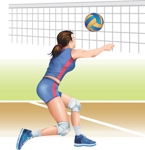 Woman Volleyball Vector