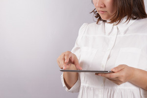 Woman With Tablet Computer