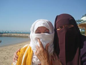 Women Wearing  Burka