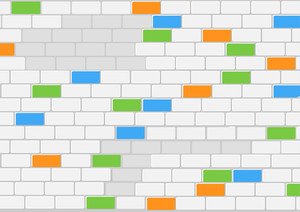 Wonderful Brick Wall - Vector Background