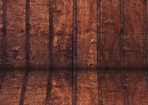 Wood Burned Barn Corner