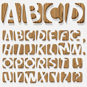 Wooden 3d Alphabet