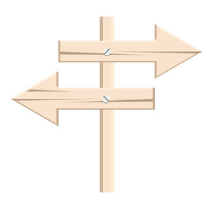 Wooden Arrow Signboard