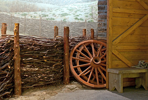 Wooden Barn With Wheels