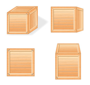 Wooden Boxes Vectors