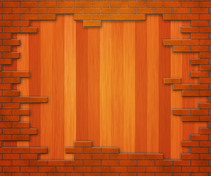 Wooden Brick Wall