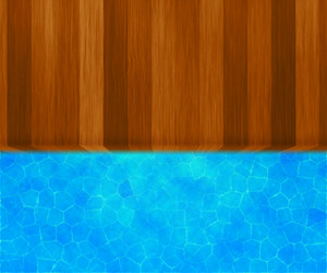 Wooden Bridge Swimming Pool Background