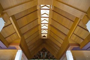 Wooden ceiling vintage architecture