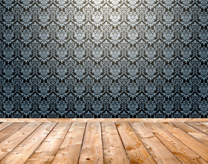 Wooden Floor Damask Pattern