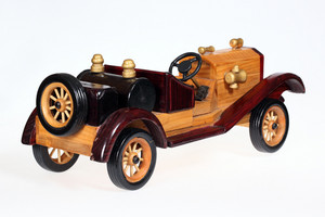 Wooden Retro Car