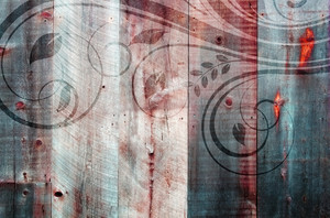 Wooden Retro Grunge Background