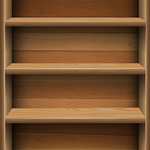 Wooden Shelves Background