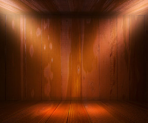 Wooden Spotlight Room Background