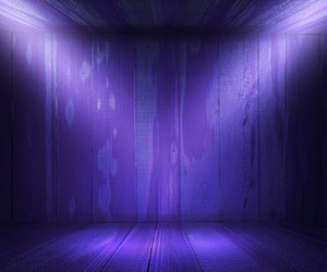 Wooden Spotlight Room Violet Background