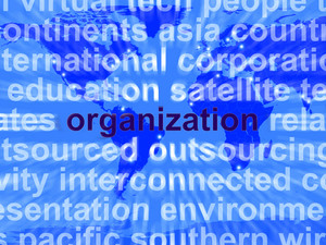 Word Organzation Representing Business Company And Management