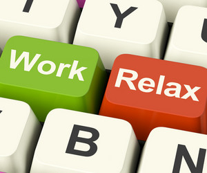 Work Relax Keys Showing Decision To Take A Break Or Start Retirement
