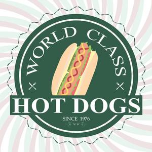 World Class Hotdog Label
