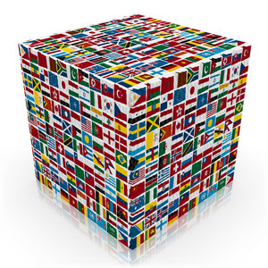 World Flags Cube
