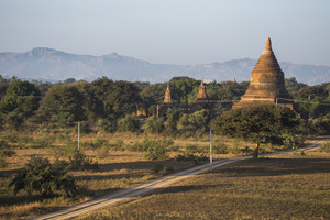 World heritage 4,000 pagoda landscape of Bagan, Myanmar.